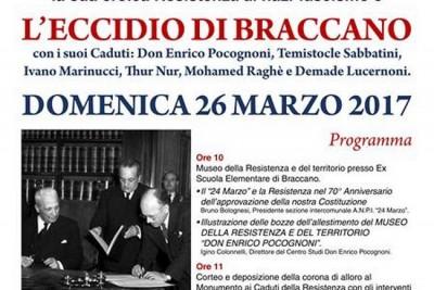 MATELICA CELEBRA IL 73^ ANNIVERSARIO DELL'ECCIDIO DI BRACCANO.